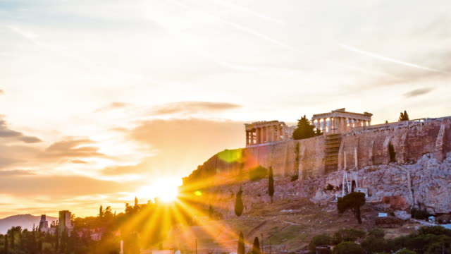 acropolis in athens, greece - parthenon athens stock videos and b-roll footage