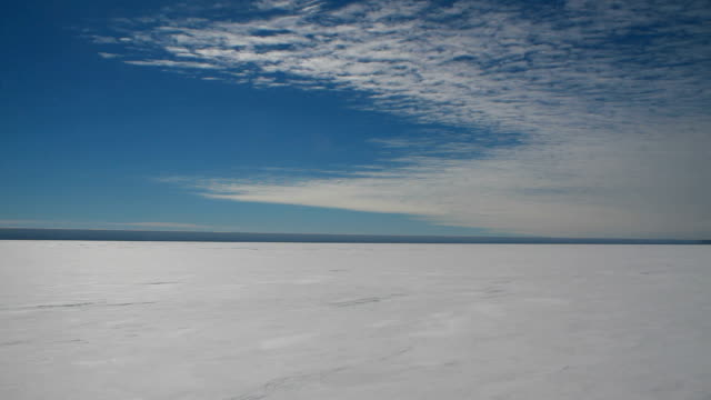 pan across ice (left to right), antarctica - south pole stock videos & royalty-free footage