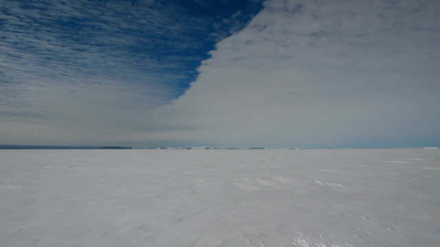 pan across ice (right to left), antarctica - 南極点点の映像素材/bロール