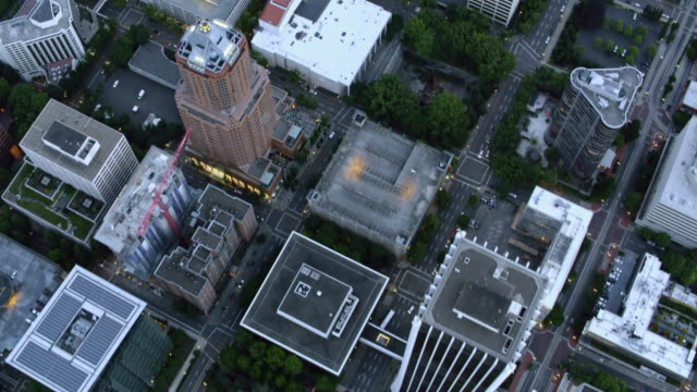 aerial across the downtown portland - portland oregon stock videos & royalty-free footage
