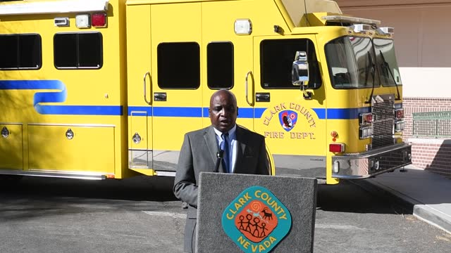 acting chief health officer for the southern nevada health district dr. fermin leguen speaks during a preview of a free drive-thru covid-19 testing... - clark county nevada stock videos & royalty-free footage