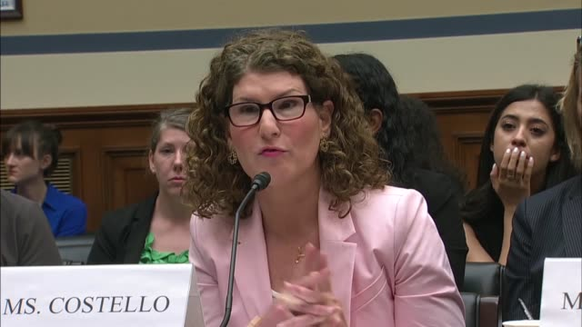 Acting Department of Homeland Security Inspector General Jennifer Costello tells members of the House Oversight and Reform Committee at a hearing on...