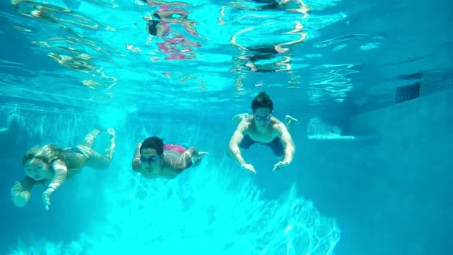 action cam swimming group! - swimming stock videos & royalty-free footage