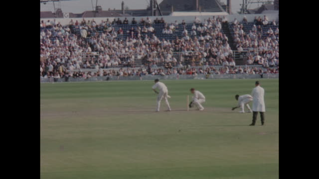 Action from the 1st Test Match between England and the West Indies at Old Trafford in June 1966 including West Indies allrounder Garfield Sobers...