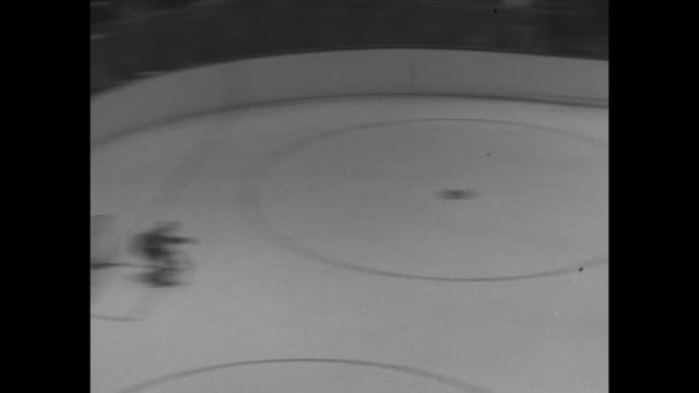 ls pan action on the ice during montrealtoronto hockey game / ws faceoff begins game between montreal canadiens on the left and toronto maple leafs... - offense sporting position stock videos and b-roll footage