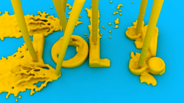 Action Painting the Acronym LOL for 'Laughing Out Loud'