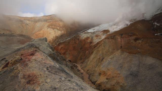 Active fumaroles. Kamchatka, Russia