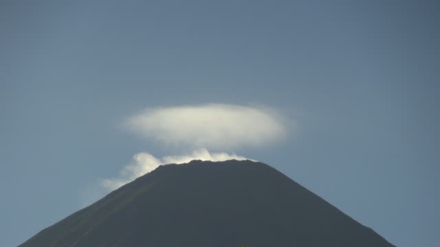 active maderas volcano in ometepe nicaragua - nicaragua stock videos & royalty-free footage