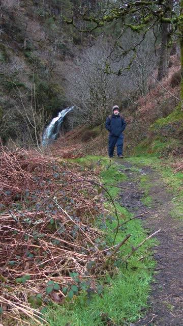 active senior man walking rear a waterfall - johnfscott stock videos & royalty-free footage