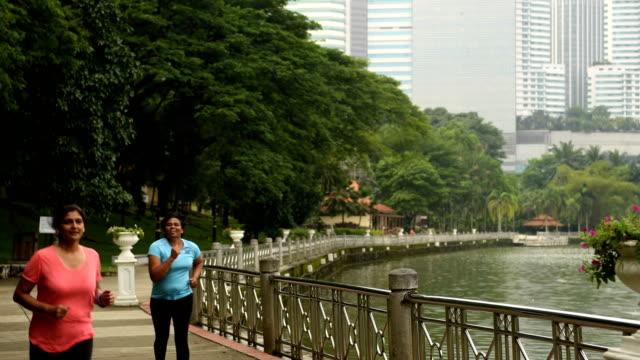 active senior women enjoying a healthy lifestyle - malaysia stock videos & royalty-free footage