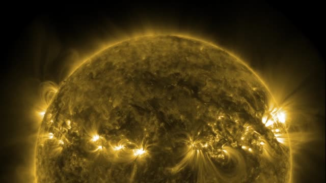 Active solar areas, time-lapse SDO footage