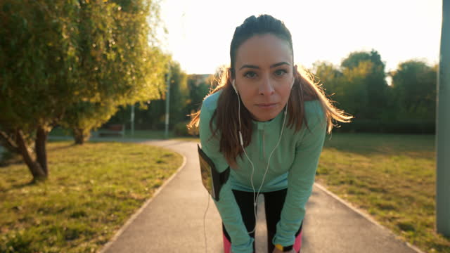 active woman portrait. - brown hair stock videos & royalty-free footage