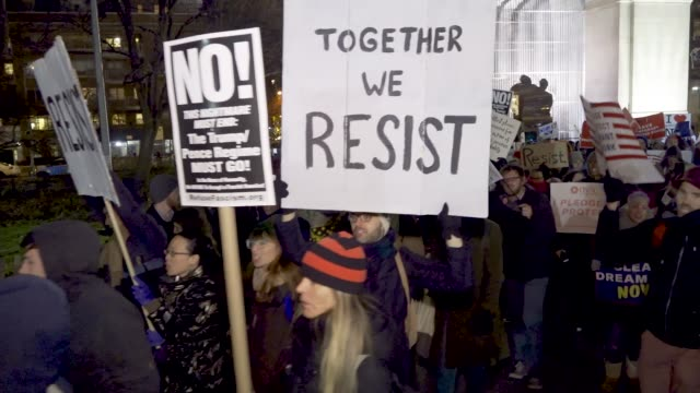 Activist and Dreamers gathered in Washington Square Park to protest the 'Muslim Ban' Tax Reform and to support the Dream Act The event was hosted by...
