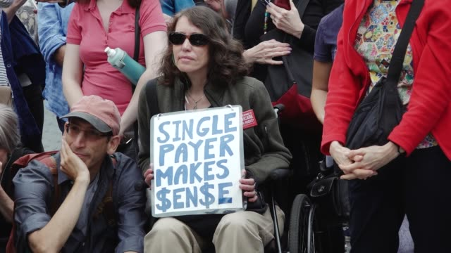 Activist and healthcare advocates held a rally in Union Square demanding universal healthcare improved Medicare and end to forprofit healthcare...
