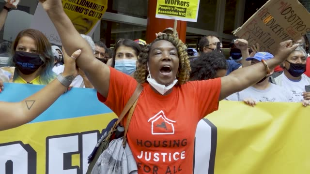 activist asks governor to suspend rent and mortgage payments to help those who have lost their income due to the coronavirus. activist, undocumented... - housing difficulties stock videos & royalty-free footage