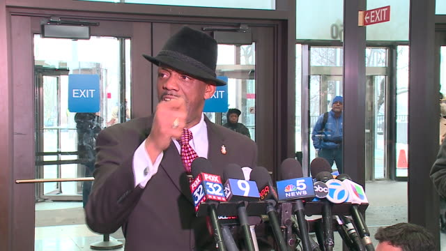 wgn activist eric russell reacts to acquittal on january 17 after a trial that was watched closely by law enforcement and critics of the chicago... - acquittal stock videos and b-roll footage