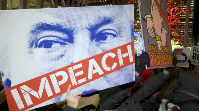 Activist from Rise and Resist held a rally at the NYC Manhattan headquarters of Fox News and proceeded to march to the 5th Avenue Trump Tower The...