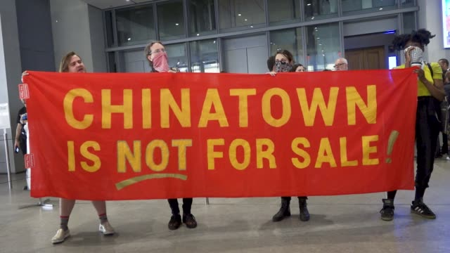 activist in may 2019 demanding the removal of warren b kanders from the vice chairman board of the whitney museum of american art mr warren is the... - israel palestine conflict stock videos & royalty-free footage