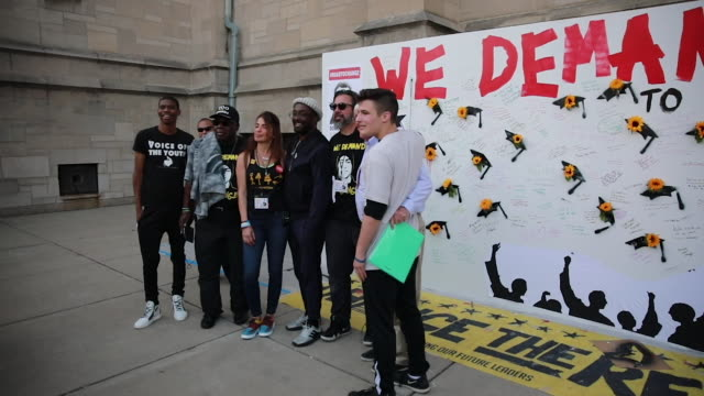 activists and students from marjory stoneman douglas high school in parkland florida the site of one of the worst school shootings chicago residents... - will.i.am stock videos & royalty-free footage