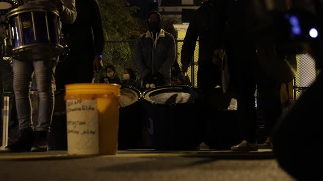 activists play drums at black lives matter plaza near the white house while waiting for the results of the presidential election on november 3, 2020... - former stock videos & royalty-free footage