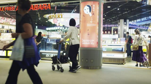 activities at narita airport - shopping trolley stock videos & royalty-free footage