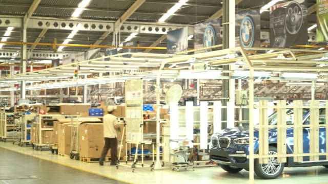 Activities inside PT Gaya Motor's BMW Production Network 2 a local assembly facility for BMW Group cars in Jakarta Indonesia on Wednesday July 18 2018