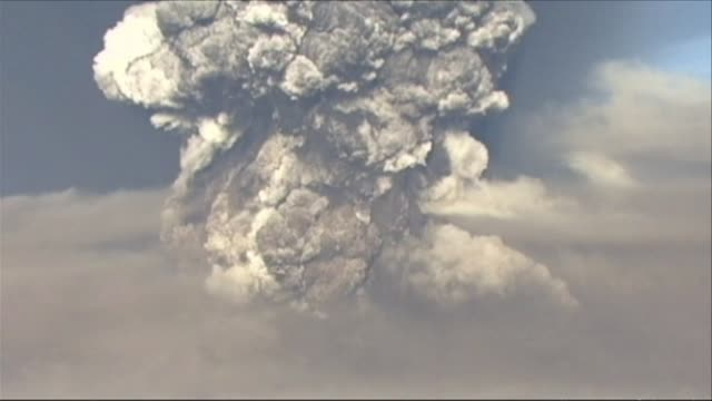 activity at iceland's erupting volcano has slowed and its flighthalting ash plume has dropped from its peak of 20 kilometres to between three and... - ash stock videos & royalty-free footage