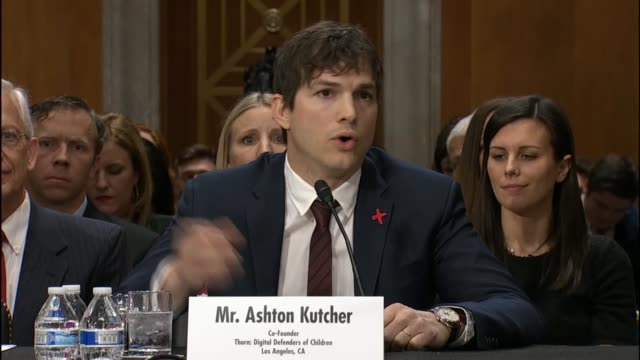 actor and technology venture capitalist ashton kutcher tells members of the senate foreign relations committee that technology is just a tool but the... - ashton kutcher stock videos & royalty-free footage