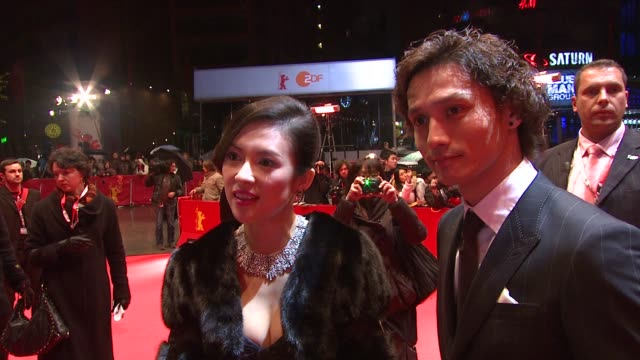 actor Ando Masanobu Zhang Ziyi on being back in Berlin Premiere promoting the film in Japan and a hello message to her fans at the 59th Berlin Film...