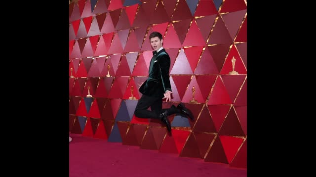 actor ansel elgort attends the 90th annual academy awards at hollywood highland center on march 4 2018 in hollywood california - 90th annual academy awards stock videos & royalty-free footage