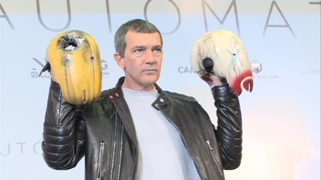 Actor Antonio Banderas and director Gabe Ibanez attend 'Automata' photocall
