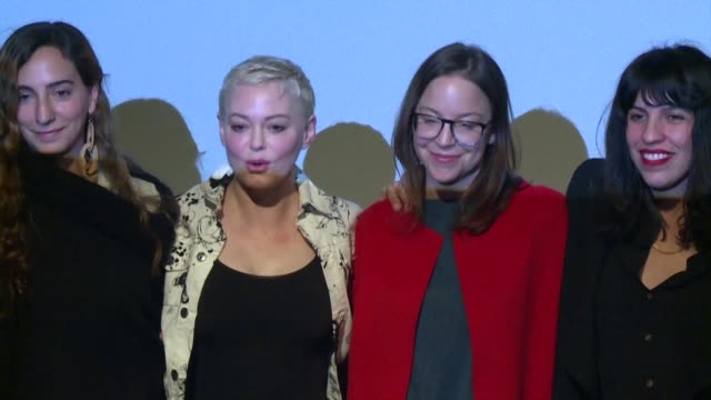 actor artist and activist rose mcgowan talks about the feminist movement in latin america and the harvey weinstein trial - social movement stock videos & royalty-free footage