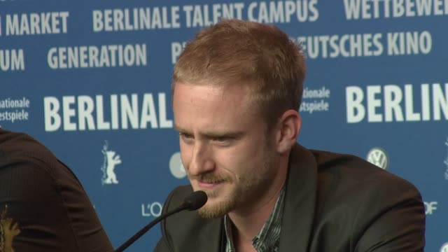 actor ben foster broll at the 59th berlin film festival the messenger press conference at berlin - ben foster actor stock videos and b-roll footage