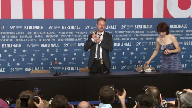 actor ben foster who received the silver bear for best script on behalf of oren moverman at the 59th berlin film festival awards press conference at... - ben foster actor stock videos and b-roll footage