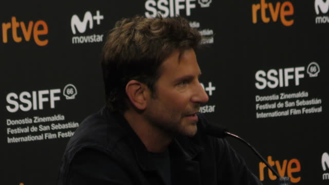 Actor Bradley Cooper attends the 'A Star Is Born' press conference during the 66th San Sebastian International Film Festival on September 29 2018 in...