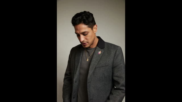 actor carlos miranda from the film vida poses for a portrait in the getty images portrait studio powered by pizza hut at the 2018 sxsw film festival... - vida no mar stock videos & royalty-free footage