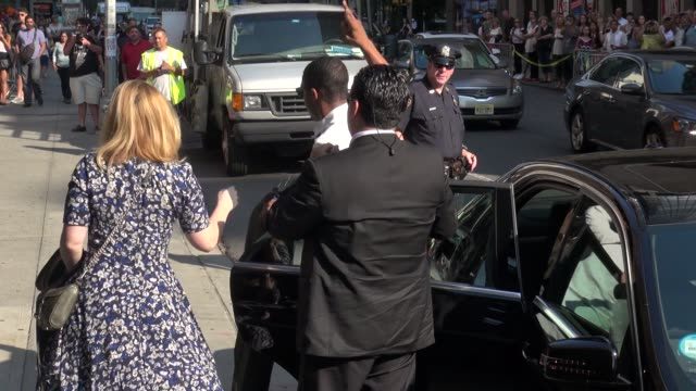 actor chadwick boseman arrives at the late show with david letterman at celebrity sightings in new york 82014 - chadwick boseman stock videos and b-roll footage
