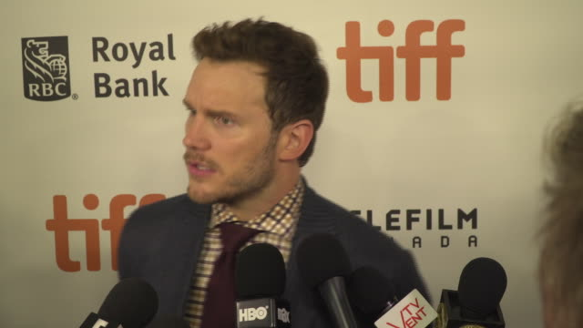 actor chris pratt was in town to promote his movie 'magnificent 7' but he's also become a social media icon and in this exclusive interview he... - chris pratt actor stock videos and b-roll footage