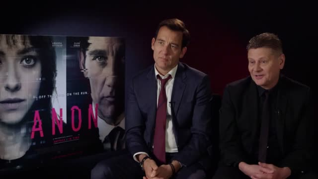 actor clive owen and director andrew niccol discuss their new film, anon, a science fiction thriller set in the future where the government is trying... - science fiction film stock videos & royalty-free footage