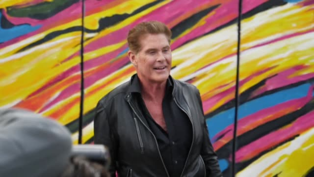 actor david hasselhoff is back in berlin almost 30 years after singing his hit single looking for freedom at the brandenburger gate in 1989 a few... - david hasselhoff stock-videos und b-roll-filmmaterial