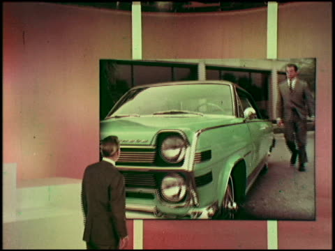actor david wayne was a celebrity spokesman for american motors in 1966. in this short film, he reviews the new amc cars for '66: the ambassador dpl,... - spokesman stock videos & royalty-free footage