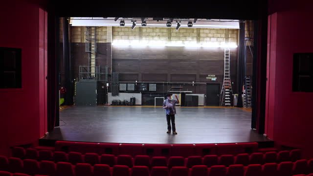 actor, director rehearsal in theatre - actor stock videos & royalty-free footage