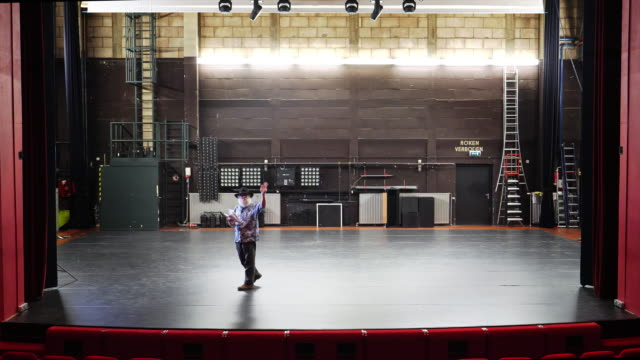 actor, director rehearsal in theatre - director stock videos and b-roll footage