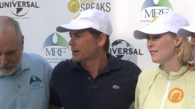 Actor discusses skin cancer melanoma prevention Rob Lowe on Skin Cancer at Miles for Melanoma 5K Run/Walk at Universal Studios on May 04 2013 in Los...