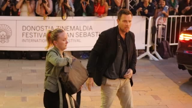 Actor Ewan McGregor is seen arriving at Maria Cristina Hotel during the 64th San Sebastian Film Festival