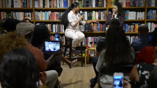 actor/ gabrielle union attends a conversation with isis miller and signs copies of her book 'gabrielle union we're going to need more wine stories'... - book club stock videos & royalty-free footage