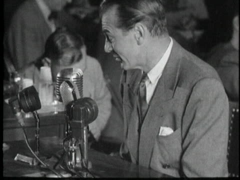 actor gary cooper is interviewed regarding communism. - communism stock videos & royalty-free footage