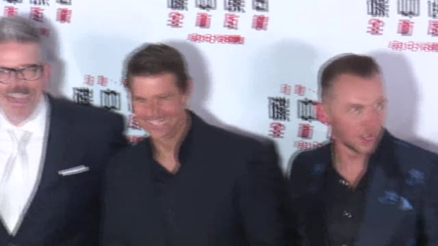 actor henry cavill director christopher mcquarrie actor tom cruise and actor simon pegg attend 'mission impossible fallout' press conference at the... - tom cruise stock videos & royalty-free footage