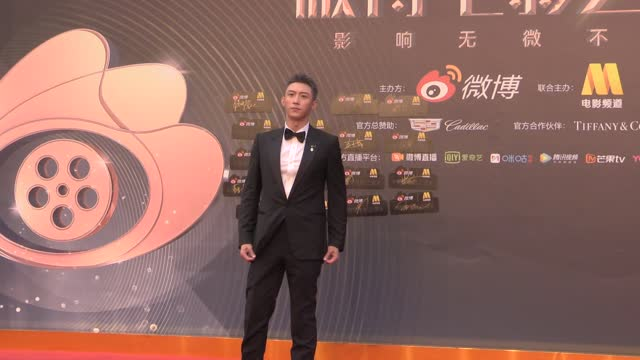 actor huang jingyu attends 2021 weibo movie awards ceremony on june 12, 2021 in shanghai, china. footage by vcg) - celeb stock videos & royalty-free footage