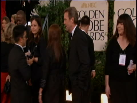 actor hugh laurie on red carpet for the 2011 golden globe awards in hollywood. he is best known for his role as dr gregory house, the protagonist of... - hugh laurie stock videos & royalty-free footage